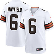 Nike Men's Cleveland Browns Baker Mayfield #6 Away White Game Jersey