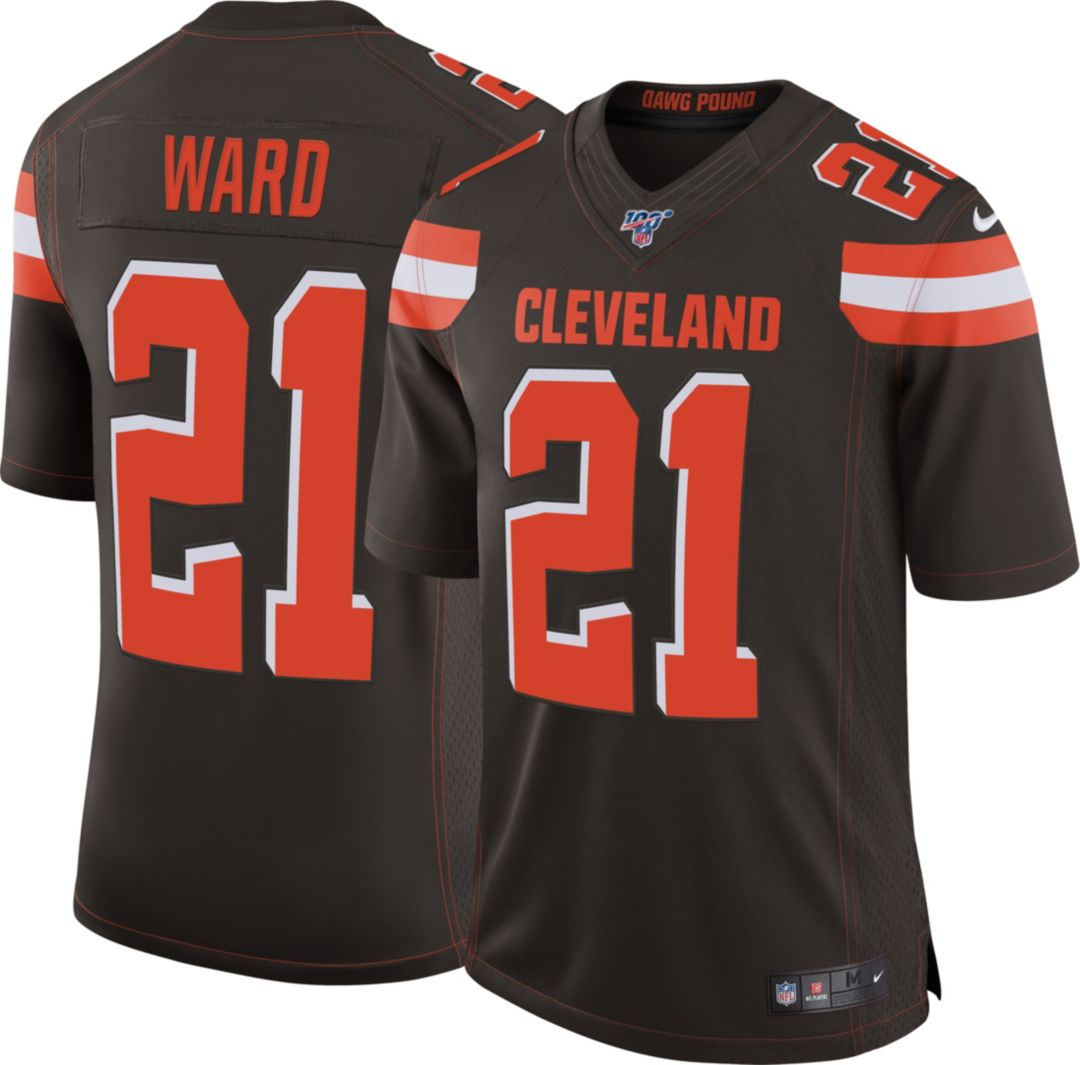online store 3df60 ad342 Nike Men's 100th Home Limited Jersey Cleveland Browns Denzel Ward #21