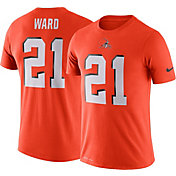 Nike Men's Cleveland Browns Denzel Ward #21 Logo Orange T-Shirt