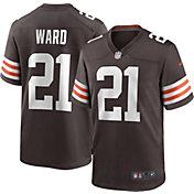 Nike Men's Cleveland Browns Denzel Ward #21 Brown Game Jersey