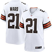 Nike Men's Cleveland Browns Denzel Ward #21 Away White Game Jersey