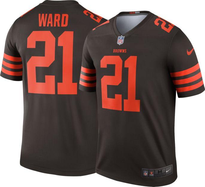 best loved 6fafb adf66 Nike Men's Color Rush Legend Brown Jersey Cleveland Browns Denzel Ward #21