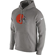 Nike Men's Cleveland Browns Logo Club Grey Hoodie