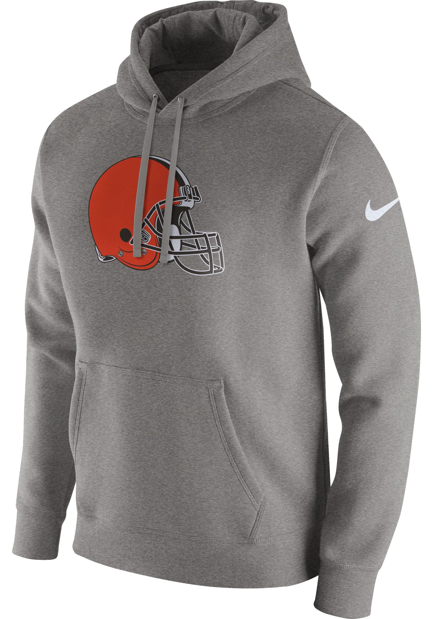 Nike Men's Cleveland Browns Logo Club Grey Hoodie