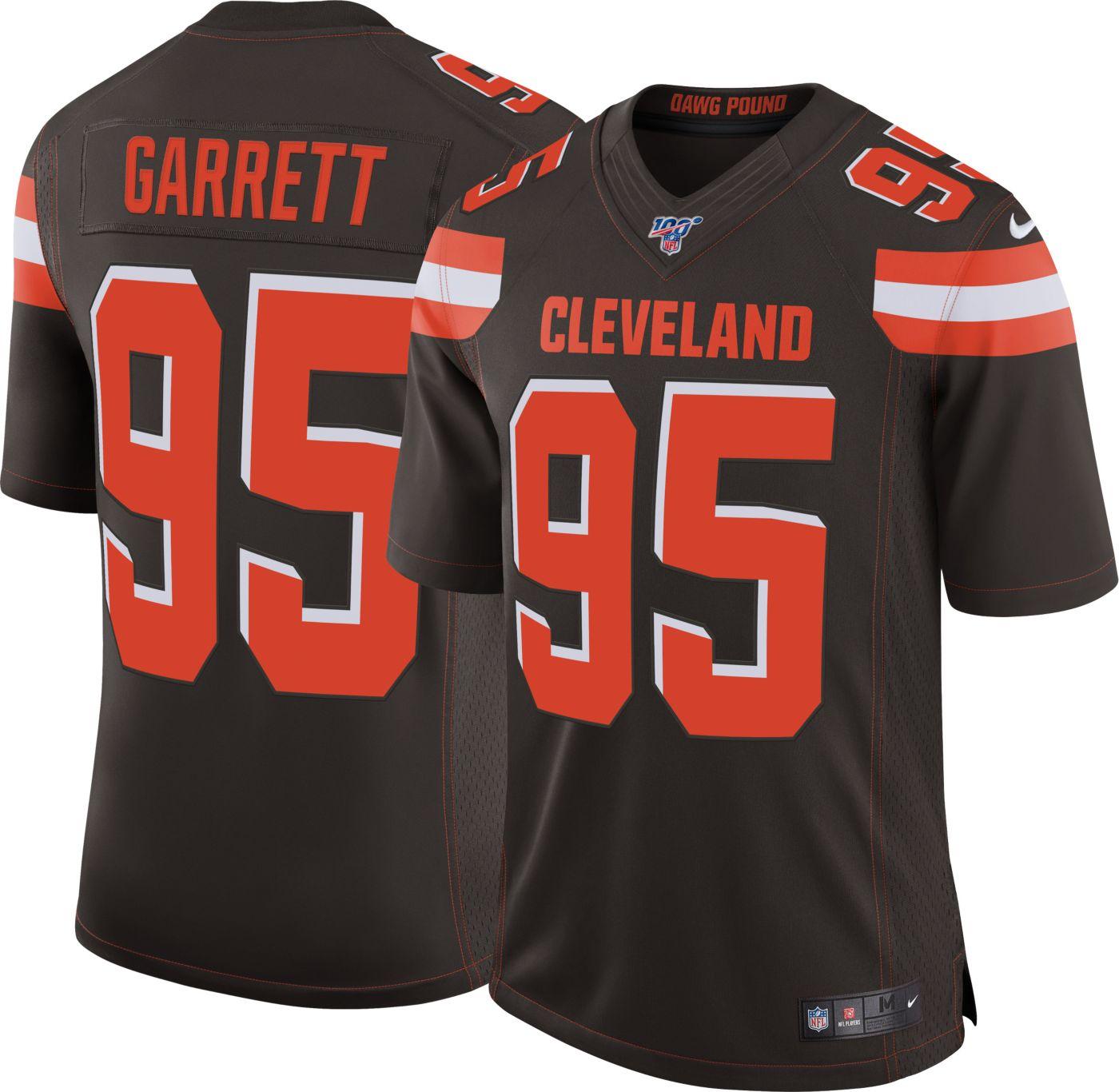 Nike Men's 100th Home Limited Jersey Cleveland Browns Myles Garrett #95