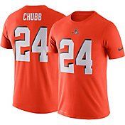 Nike Men's Cleveland Browns Nick Chubb #24 Logo Orange T-Shirt