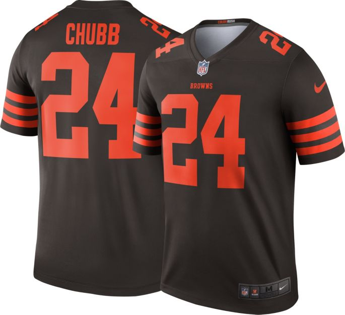 best cheap de8c2 b82b5 Nike Men's Color Rush Legend Brown Jersey Cleveland Browns Nick Chubb #24