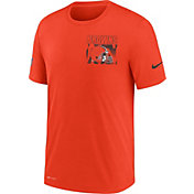 Nike Men's Cleveland Browns Sideline Dri-FIT Cotton Facility Orange T-Shirt