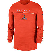 Nike Men's Cleveland Browns Sideline Legend Velocity Orange Long Sleeve Shirt