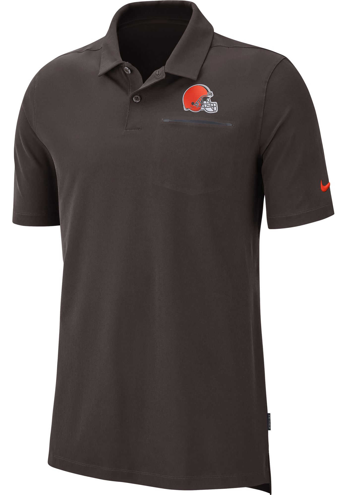 Nike Men's Cleveland Browns Sideline Elite Performance Brown Polo