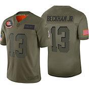 Nike Men's Salute to Service Cleveland Browns Odell Beckham Jr. #13 Olive Limited Jersey