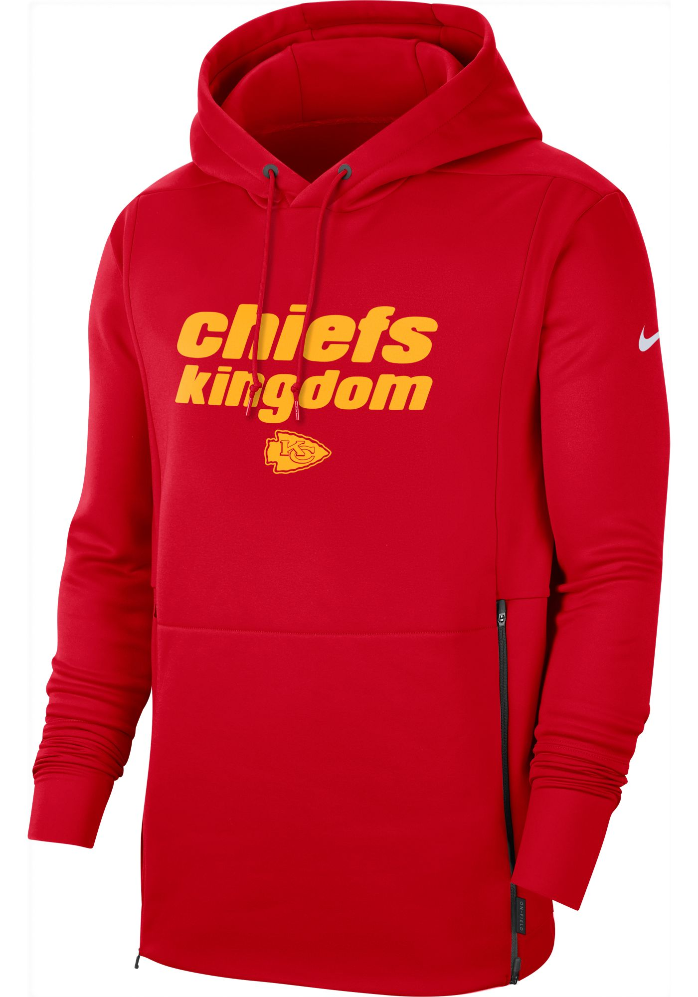 Nike Men's Kansas City Chiefs Sideline Therma-FIT Local Red Performance Hoodie