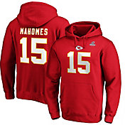 NFL Men's Kansas City Chiefs Patrick Mahomes #15 2019 Playoffs Red Hoodie