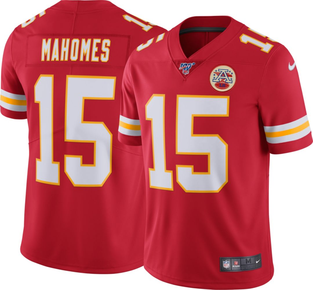 cheap for discount 3d71a b965f Nike Men's 100th Home Limited Jersey Kansas City Chiefs Patrick Mahomes #15