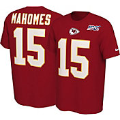 Nike Men's Kansas City Chiefs Patrick Mahomes #15 100th Red T-Shirt