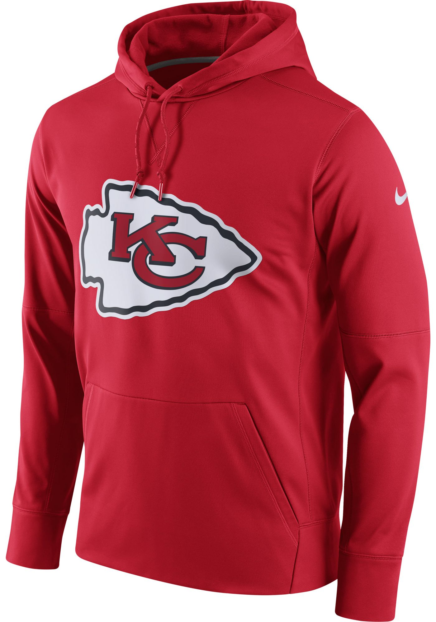 Nike Men's Kansas City Chiefs Essential Logo Red Hoodie