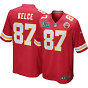Nike Men's Super Bowl LIV Patch Kansas City Chiefs Travis Kelce #87 Home Game Jersey
