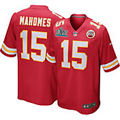 Nike Men's Super Bowl LIV Patch Kansas City Chiefs Patrick Mahomes #15 Home Game Jersey