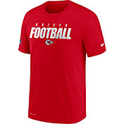 Nike Men's Kansas City Chiefs Sideline Dri-FIT Cotton Football All Red T-Shirt