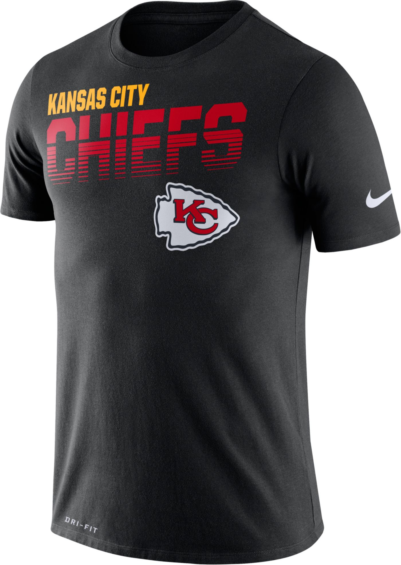 Nike Men's Kansas City Chiefs Sideline Legend Performance Black T-Shirt