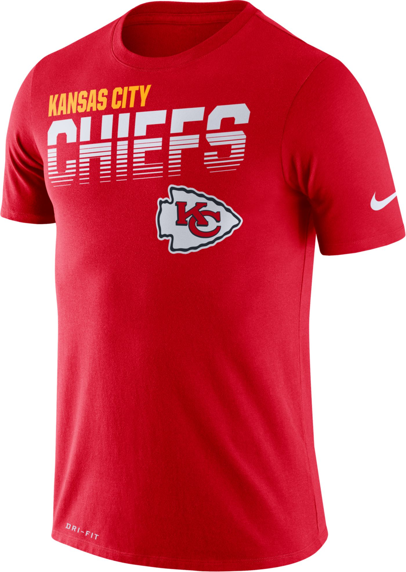 Nike Men's Kansas City Chiefs Sideline Legend Performance Red T-Shirt