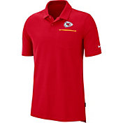 Nike Men's Kansas City Chiefs Sideline Elite Performance Red Polo