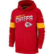 Nike Men's Kansas City Chiefs 100th Sideline Therma-FIT Red Pullover Hoodie