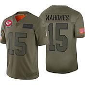 Nike Men's Salute to Service Kansas City Chiefs Patrick Mahomes #15 Olive Limited Jersey