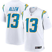 Nike Men's Los Angeles Chargers Keenan Allen #13 Away White Game Jersey