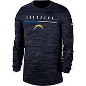Nike Men's Los Angeles Chargers Sideline Legend Velocity Navy Long Sleeve Shirt