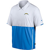 Nike Men's Los Angeles Chargers Coaches Sideline Half-Zip Jacket