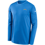 Nike Men's Los Angeles Chargers Coaches Sideline Long Sleeve Shirt