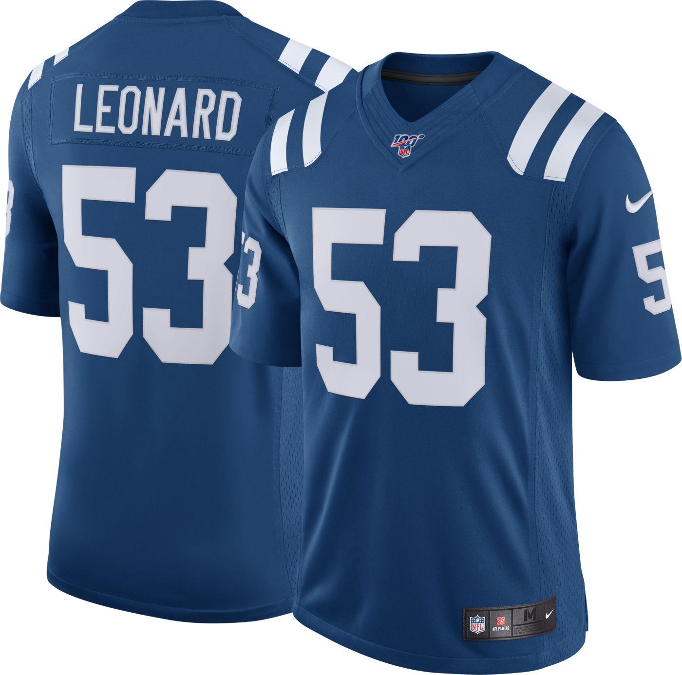 Nike Men's 100th Home Limited Jersey Indianpolis Colts Darius Leonard #53