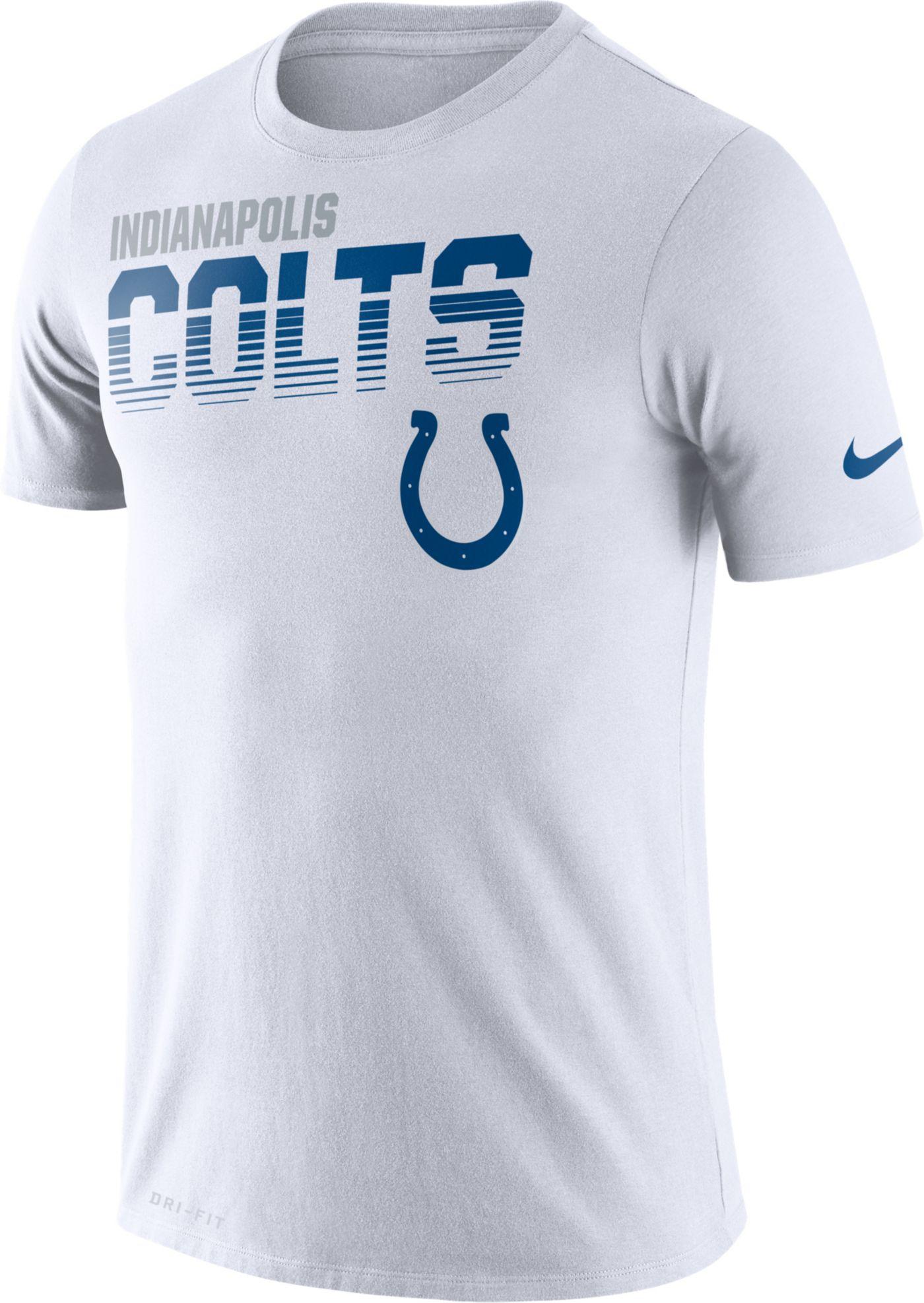 Nike Men's Indianapolis Colts Sideline Legend Performance White T-Shirt