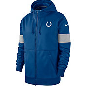 Nike Men's Indianapolis Colts Sideline Therma-FIT Blue Full-Zip Hoodie