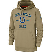 Nike Men's Salute to Service Indianapolis Colts Therma-FIT Beige Camo Hoodie