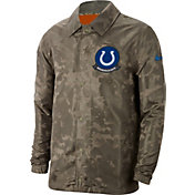 Nike Men's Salute to Service Indianapolis Colts Olive Lightweight Camo Jacket