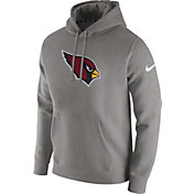 Nike Men's Arizona Cardinals Logo Club Grey Hoodie