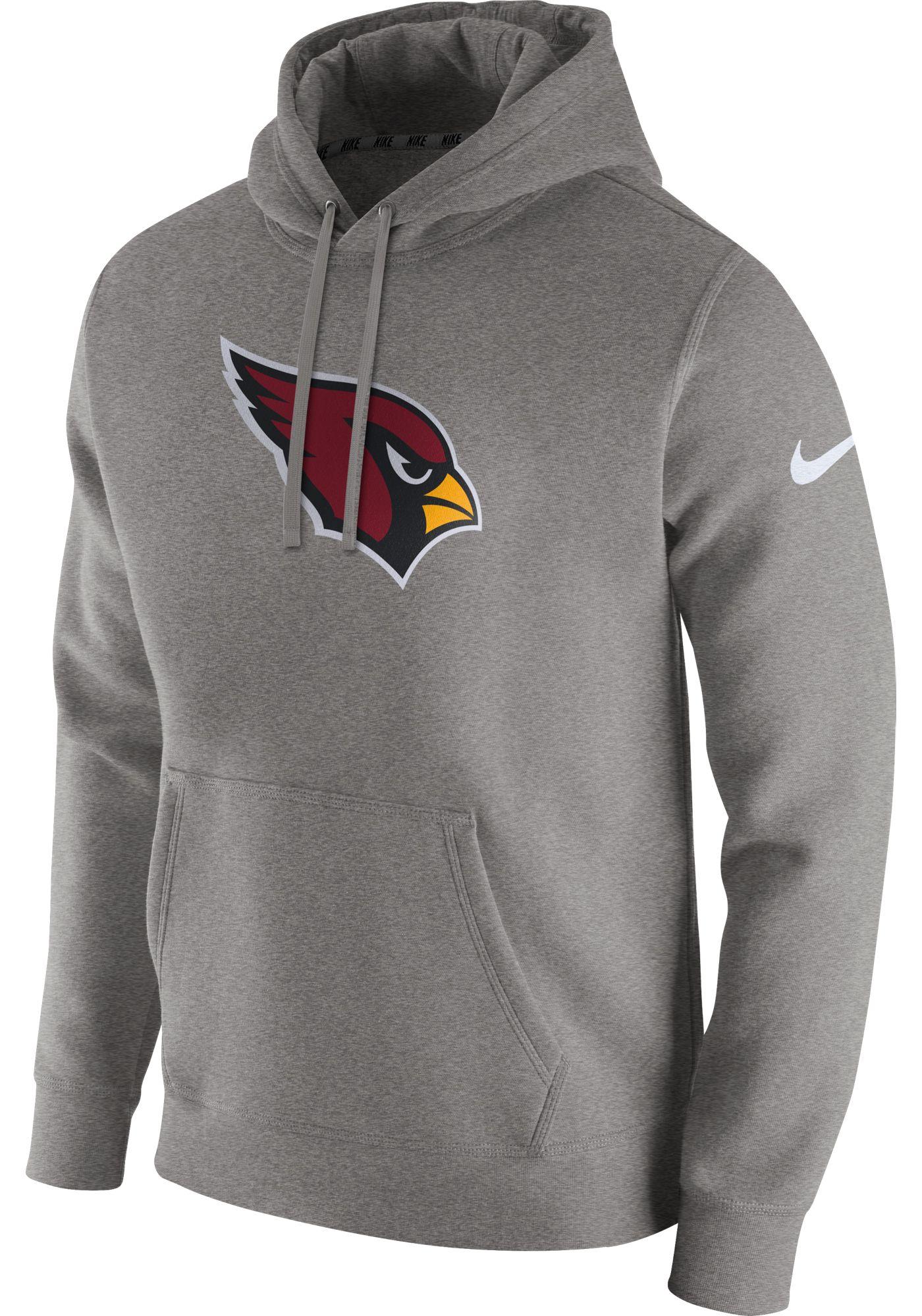 Nike Men's Arizona Cardinals Logo Club Grey Hoodie