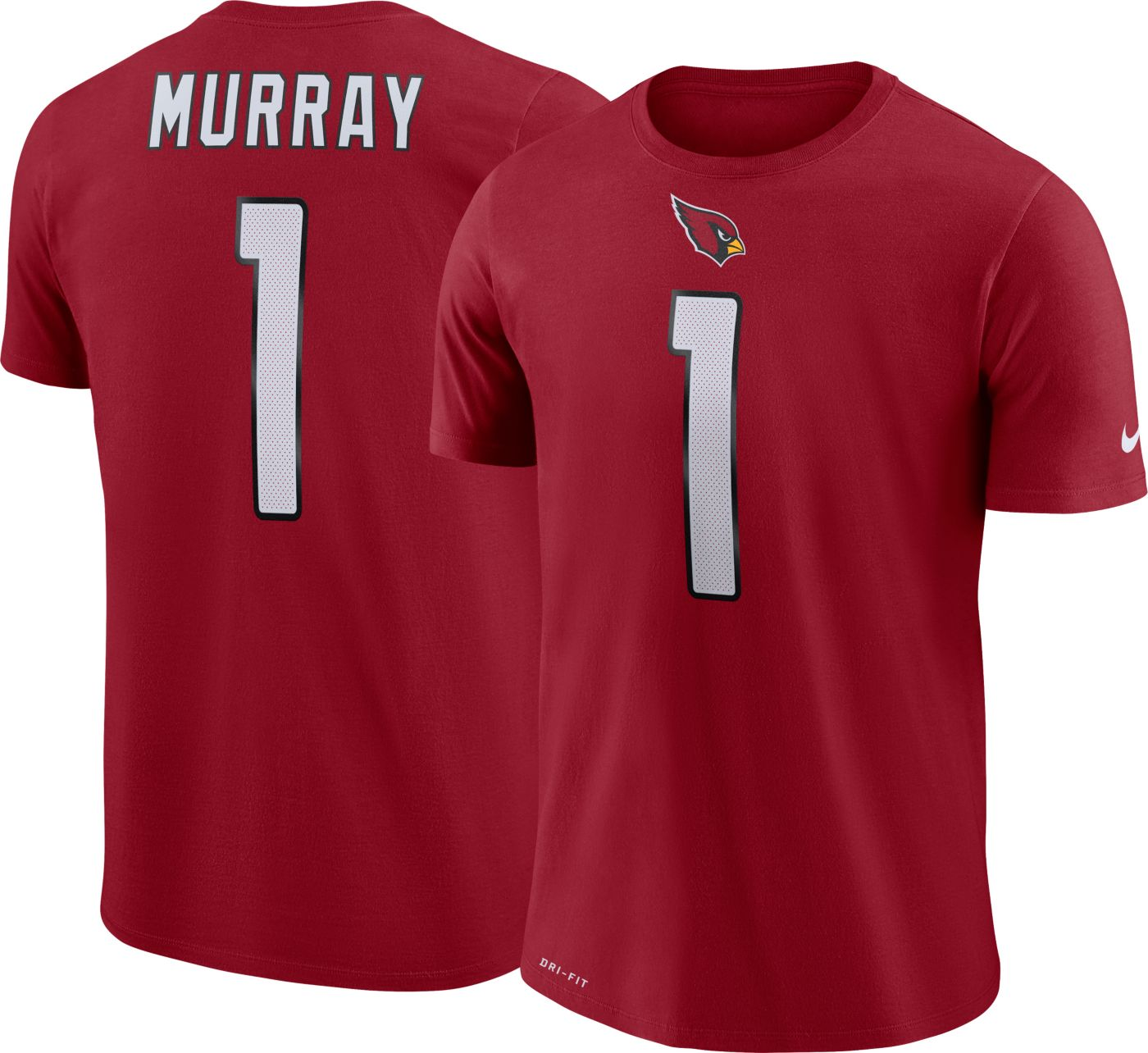 Nike Men's Arizona Cardinals Kyler Murray #1 Logo Red T-Shirt