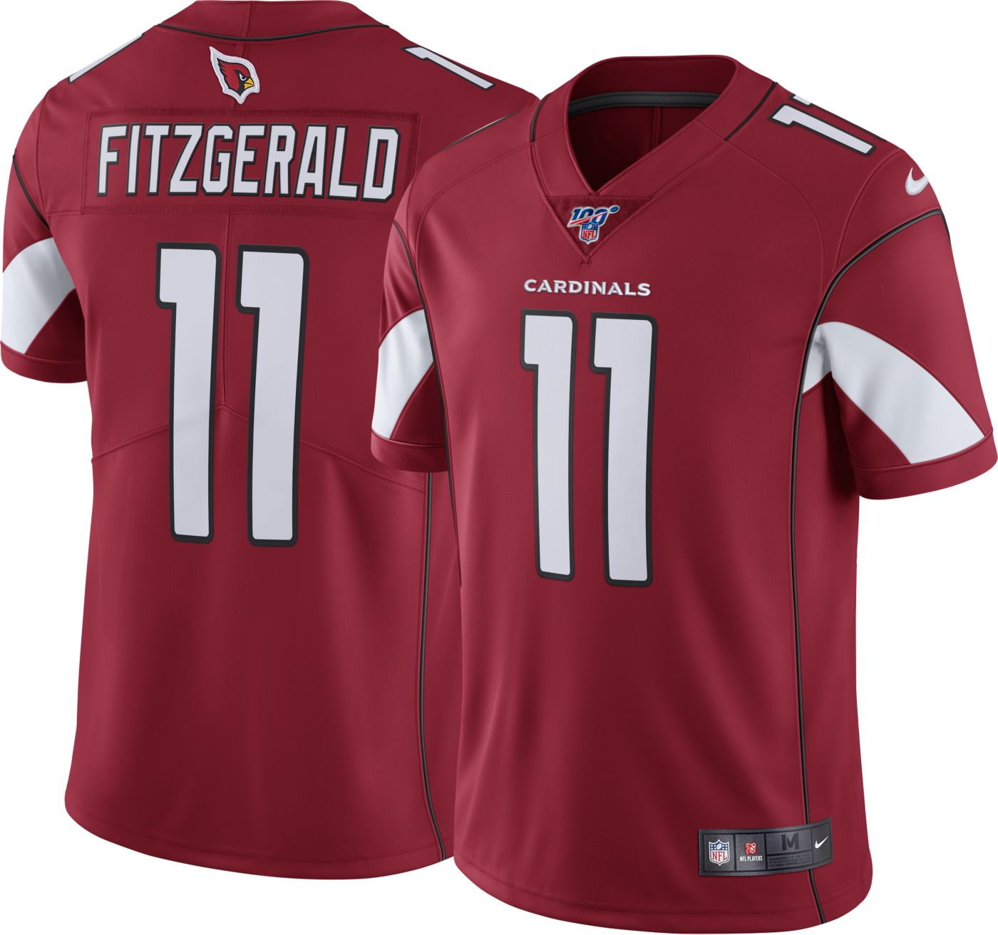 Nike Men's 100th Home Limited Jersey Arizona Cardinals Larry Fitzgerald #11