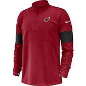 Nike Men's Arizona Cardinals Sideline Coach Performance Red Half-Zip Pullover