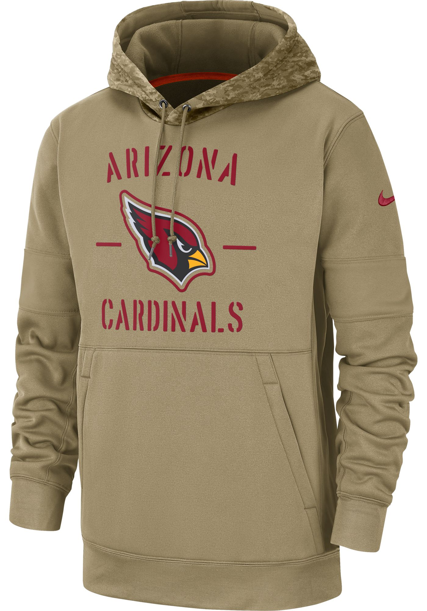 Nike Men's Salute to Service Arizona Cardinals Therma-FIT Beige Camo Hoodie