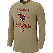 Nike Men's Salute to Service Arizona Cardinals Dri-FIT Beige Long Sleeve Shirt