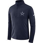Nike Men's Dallas Cowboys Core Navy Half-Zip Performance Pullover