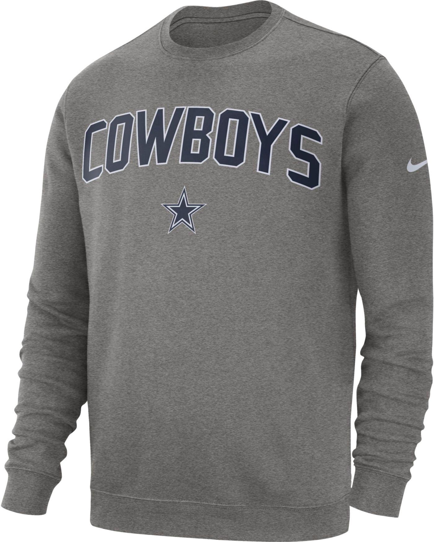 Nike Men's Dallas Cowboys Club Fleece Grey Crew