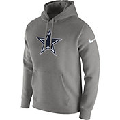 Nike Men's Dallas Cowboys Logo Club Grey Hoodie