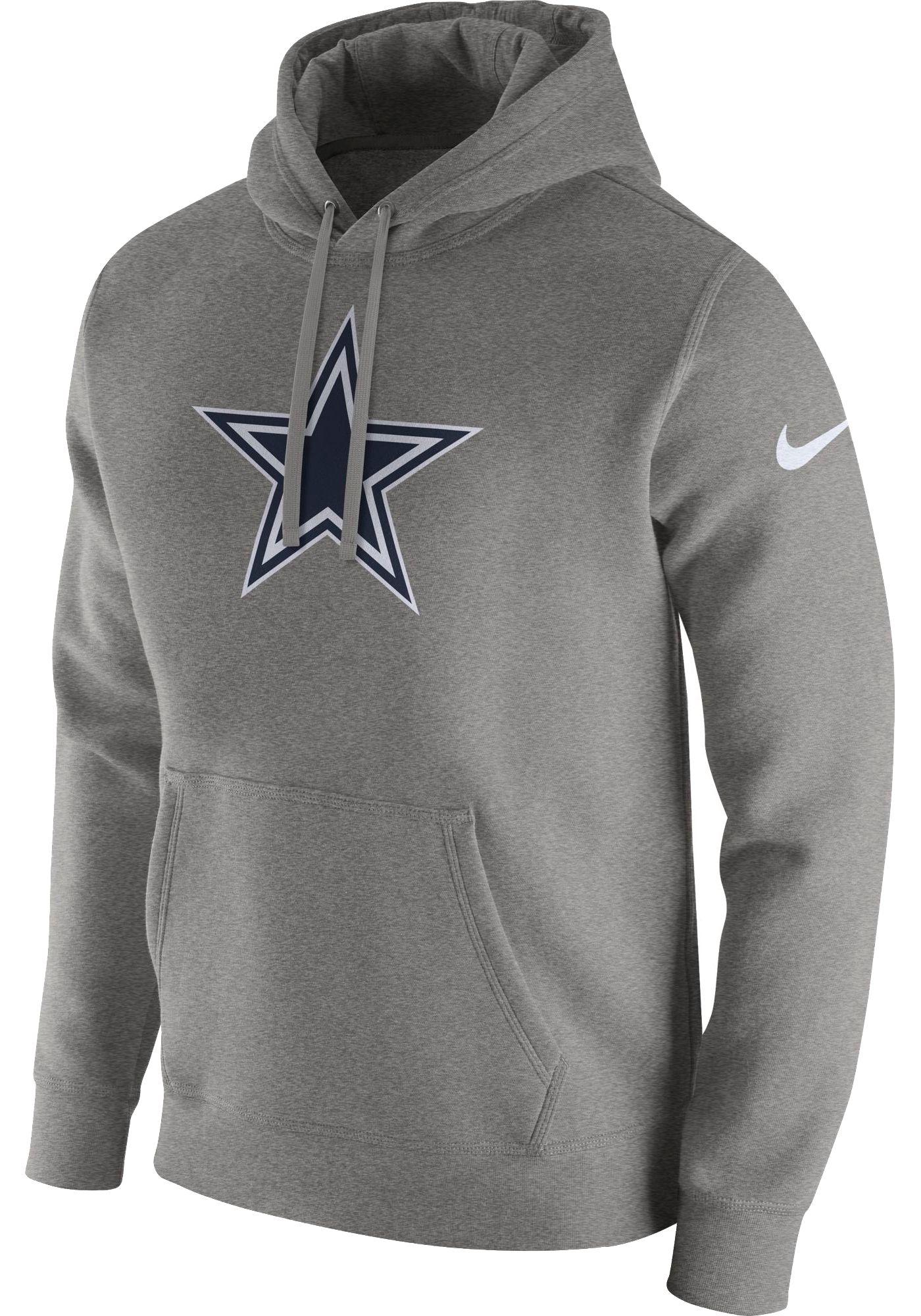 Nike Men's Dallas Cowboys Logo Club Grey Hoodie
