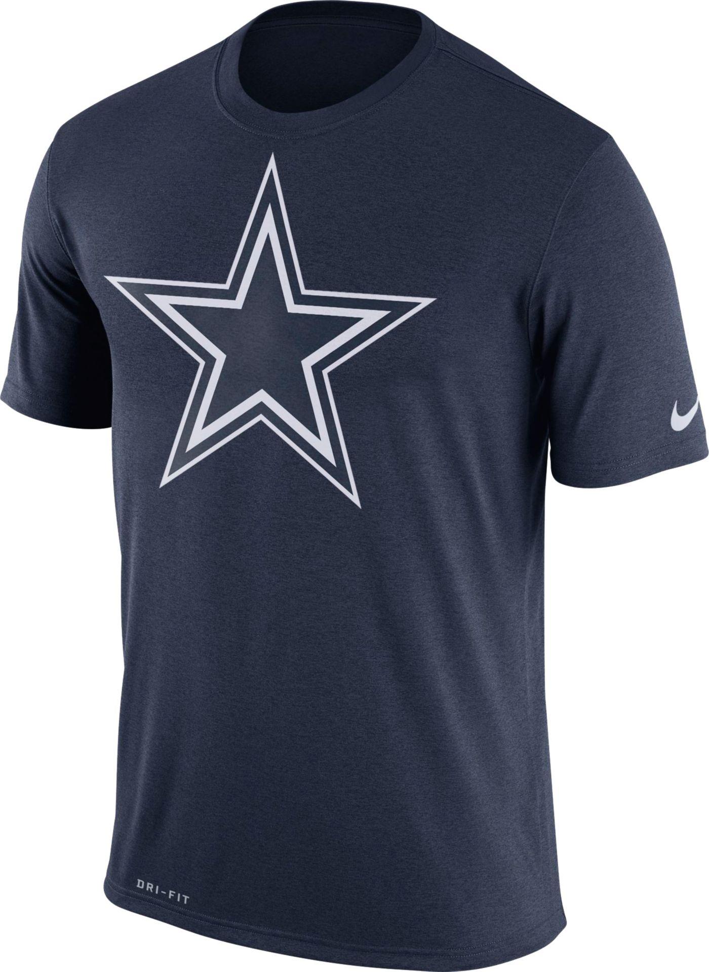 Nike Men's Dallas Cowboys Legend Logo Performance Navy T-Shirt