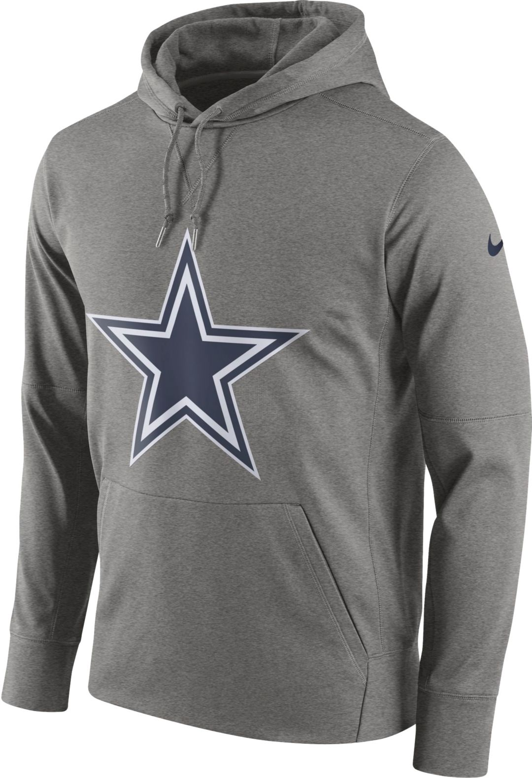 new concept 360f5 c6f37 Nike Men's Dallas Cowboys Circuit Logo Grey Pullover Hoodie